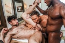 Bust A Nut: Andre Donovan And Ethan Chase Double Penetrate Drew Dixon (Bareback)
