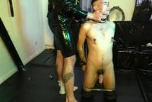 Dom and Sub in Berlin Playroom