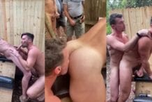 Fucked Raw In Front of Crowd At Sawmill Camp Site (Bareback)