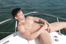 A 16min public jerk off scene outdoors on a beautiful boat!