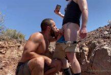 FunMrSmith sucks his friend's dick while hiking
