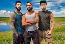 Picked Up and Fucked: Drake Masters, Drew Dixon & Romeo Davis (Bareback)