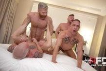 Gay Marriage Orgy, Part 1: Brian Bonds, Mason Lear, Ryan Carter, Digger & Cain Marko (Bareback)