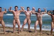 Muscle Men Nude Beach 2: Collin Simpson, Damien Stone, Jack 5, Ludvig & Nick LA