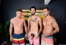 The Awkward Boner: Carter Woods, Justin Matthews & Leeroy Jones (Bareback)