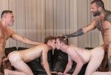 StepDad's Trade: Markus Kage, Jake Hill, Thyle Knoxx & Manuel Skye (Bareback)