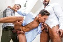 Viktor Rom And Andrey Vic Tear Up Oliver Hunt (Bareback)